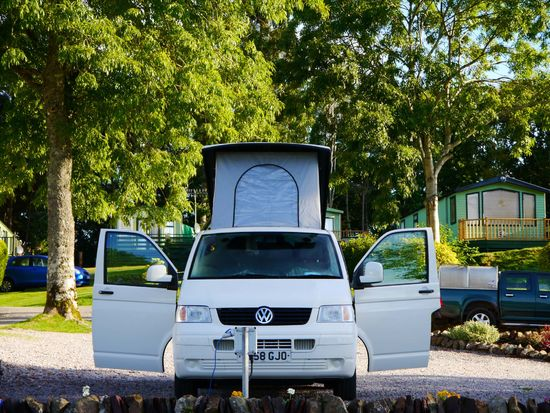 Tourer, Motorhome with electrics including 2 adults + children up to 5 years old